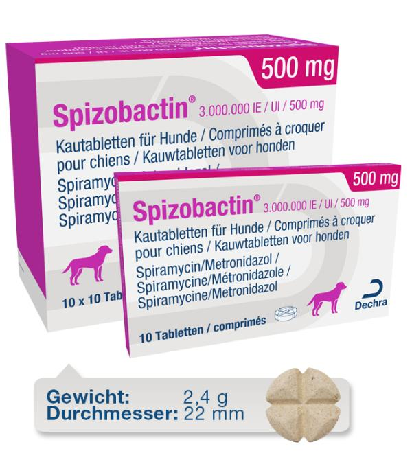 Spizobactin 3.000.000 IE / UI / 500 mg